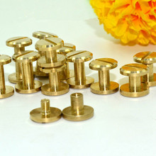 Pure copper wheel nail belt screw box hardware accessories pure push pin doctor bag buckle