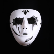Masquerade White Ghost Dance Mask Halloween Theme Male Street Horror
