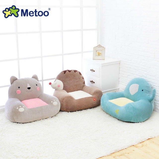 Metoo Doll Cute Baby Sofa Cat Elephant Plush Soft Toys Animal Cartoon Chair  For Girl And