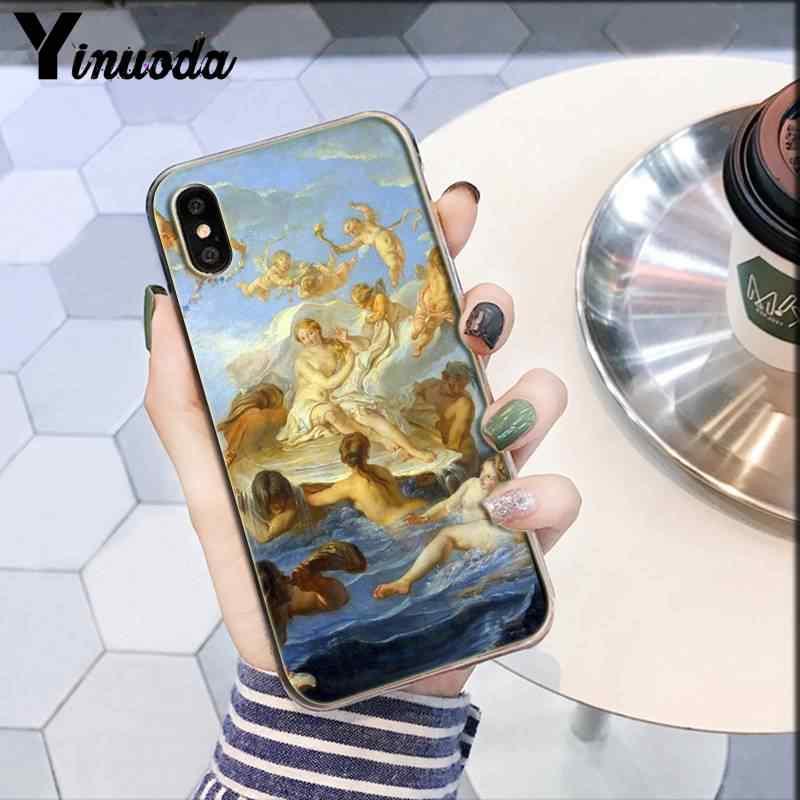 Funda de teléfono suave Yinuoda con pintura artística de Nacimiento de Venus, para iPhone 8 7 6 6S Plus X XS MAX 5 5S SE XR 10 11 11pro 11promax