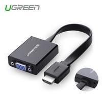 Ugreen 1080 P HDMI a vga convertitore digitale-analogico audio cavo per Xbox 360 PS3 PS4 PC Laptop TV box per proiettore