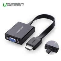 Ugreen 1080P adaptador de HDMI a VGA cable convertidor de audio digital a analógico para Xbox 360 PS3 PS4 ordenador portátil TV box para proyector