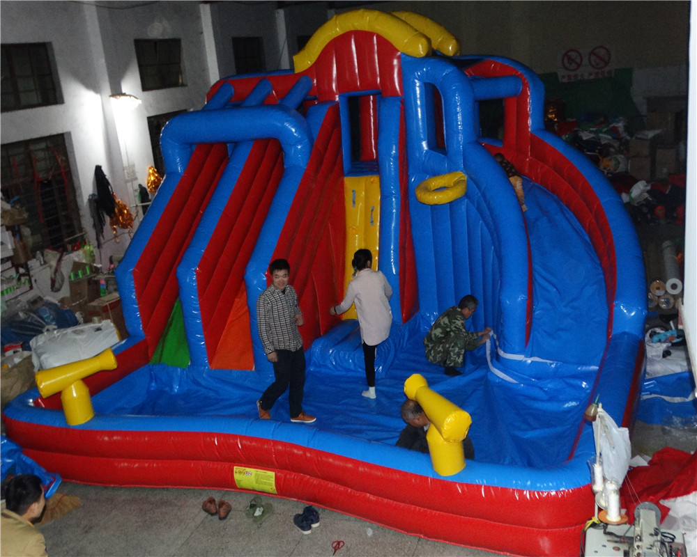 New Design Inflatable Slide Inflatable Combo Water Park Inflatable Pool Slide
