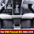 Car Floor Mats for VW Volkswagen Passat B6 2006-2010 XPE+Leather Anti-slip car carpets Front & Rear Liner Auto Waterproof mat