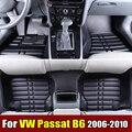 Esteiras do Assoalho do carro para VW Volkswagen Passat B6 2006-2010 XPE + Couro Anti-slip tapetes do carro Da Frente & Forro traseiro Auto tapete Impermeável
