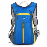 OUTAD 15L Outdoor Shoulder Waist Backpack Riding Backpack Bag Camping Bags Nylon Mesh Waterproof Storage Helmet