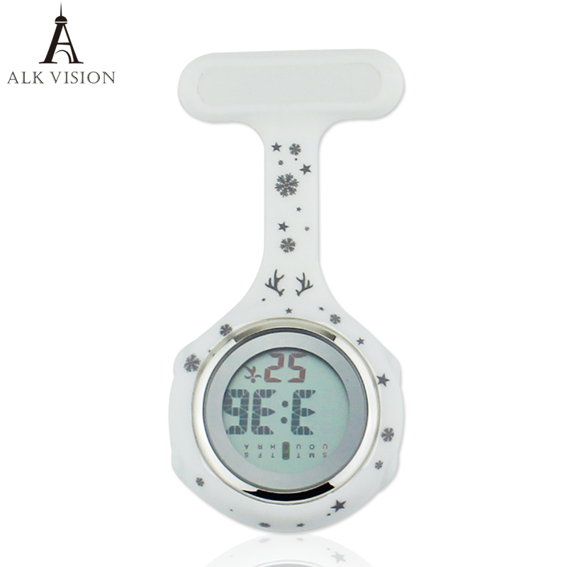Timberland Digital - Christmas nurse watch silicone medical watch fob brooch pocket watch nurse doctor with clip 1