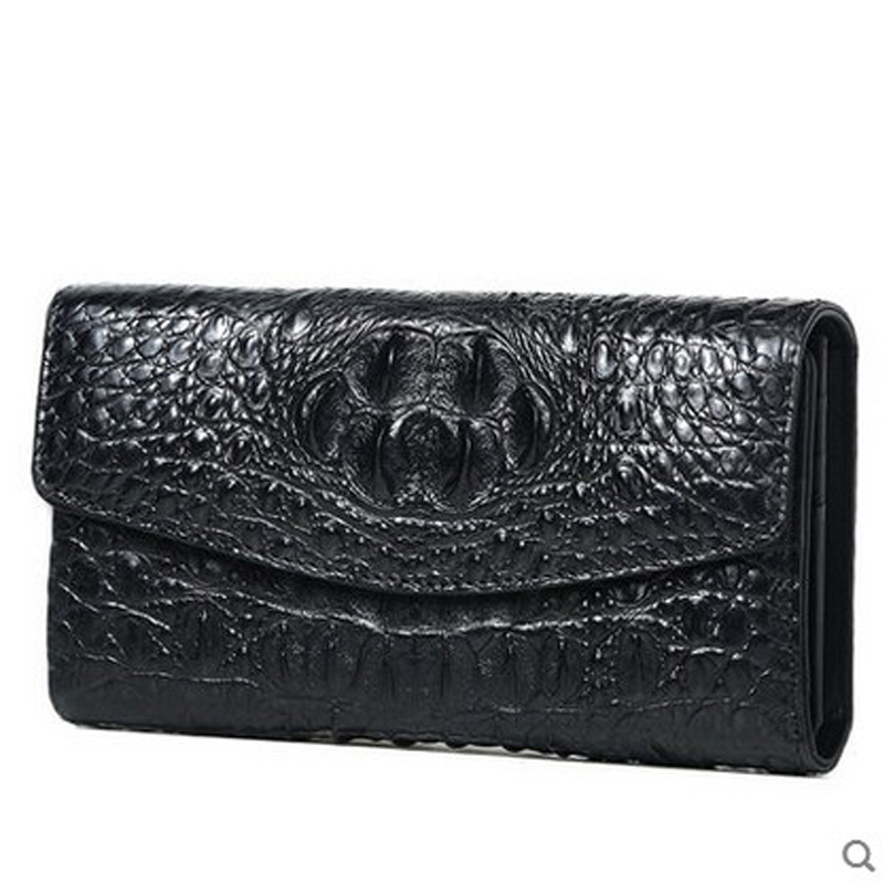 2018 VV new crocodile wallet women's long high-volume, high-volume women's leather star of the same style women clutch bag 2017 new europe style women clutch high
