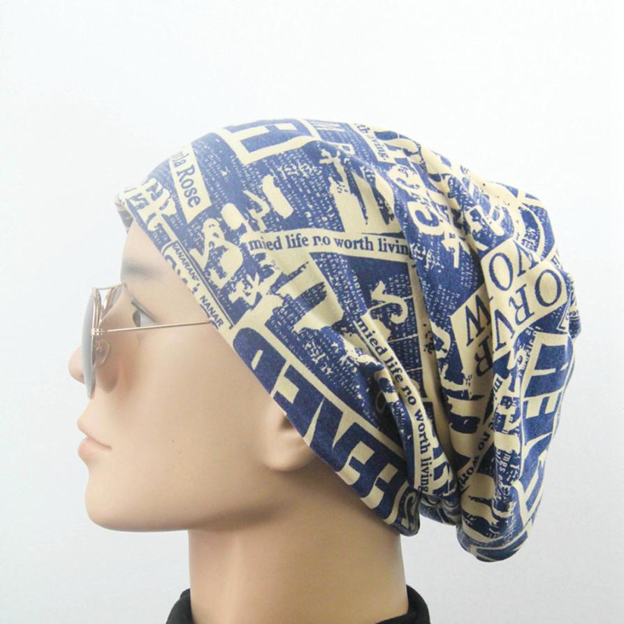 MUQGEW 2017Mens Fashion Letter Pleated Indian Cap Hat Warm Cap Pleated Turban Head Wrap Headwrap protetor de orelha inverno#WMEW