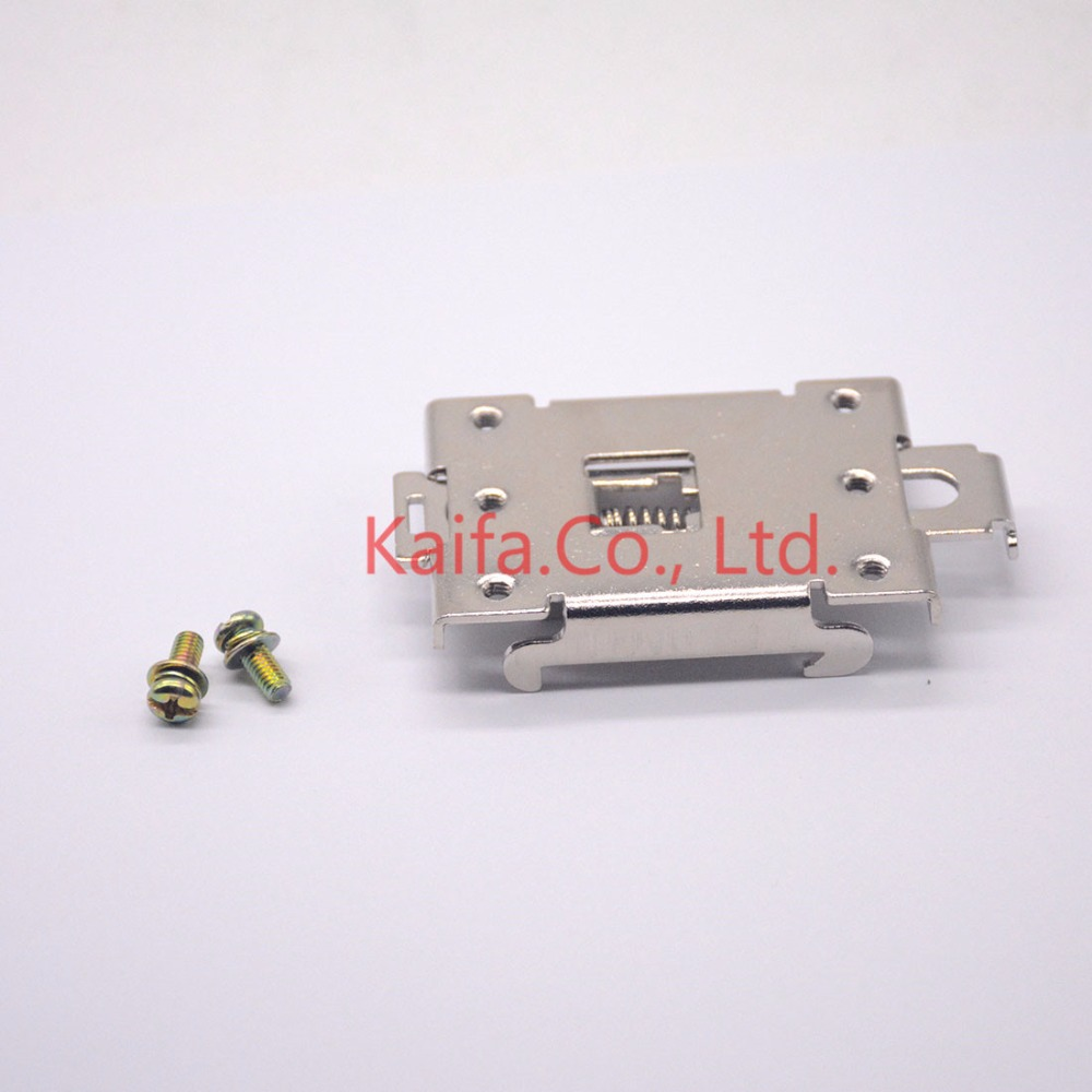 1pcs single phase SSR 35MM DIN rail fixed solid state relay clip clamp +2 pcs Screw 4 20ma to ac 28 280v 25a one phase 35mm din rail socket solid state relay