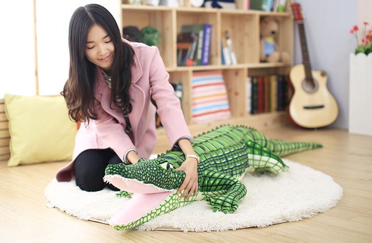 huge 200cm simulation crocodile plush toy doll throw pillow christmas gift w0628 huge 105cm prone tiger simulation animal white tiger plush toy doll throw pillow christmas gift w7973