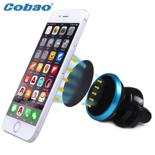 Coba Vehicle-mounted mobile magnet stents Phone Mobile Holder Universal Automotive air conditioning  For iphone SamsungCar Stand