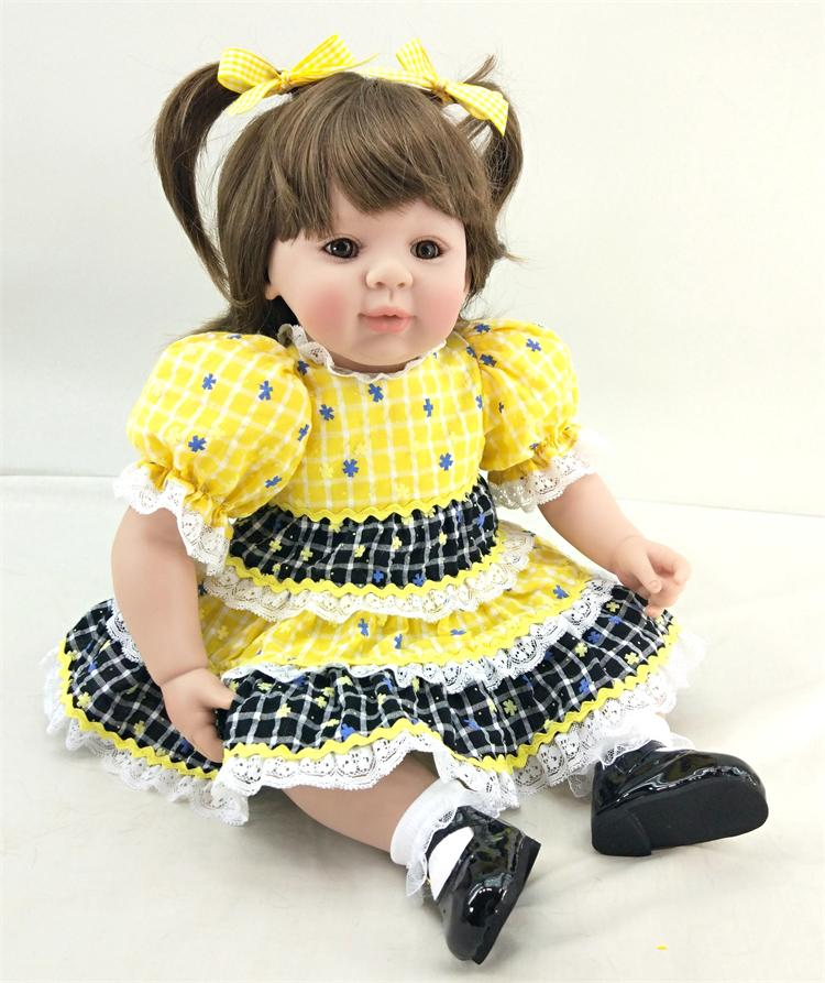50cm Silicone Reborn Babies Doll Toys For Kid Vinyl Lovely Toddler Smile Princess Baby Doll Child Birthday Gifts Girl Brinquedos 50cm silicone reborn babies doll toys lifelike vinyl lovely princess toddler doll kids birthday gift child girl brinquedos
