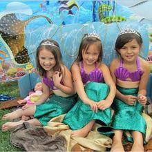 Ariel The Little Mermaid Tail Princess Ariel Dress Cosplay Costume For Girl Kids
