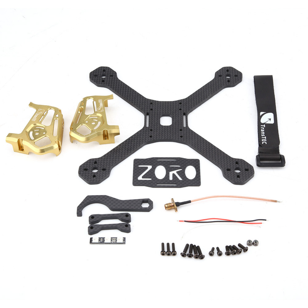 RC Accessories Carbon Fiber RC DIY Frame Kit For TransTEC ZORO FPV Frame 195mm FPV Racing Quadcopter Remote Control Drone high quality transtec zoro race lite 195mm 220mm 3k 4mm carbon fiber fpv racing frame for rc model