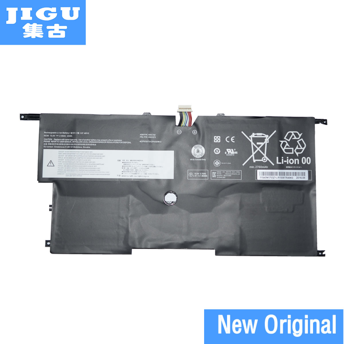 JIGU Original Laptop Battery 45N1702 45N1703 FOR LENOVO For ThinkPad X1 Carbon 14 8v 46wh new original laptop battery for lenovo thinkpad x1c carbon 45n1070 45n1071 3444 3448 3460