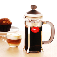 New French Pressure Coffee Pot Household Glass Coffee Tea With Filter Kettle