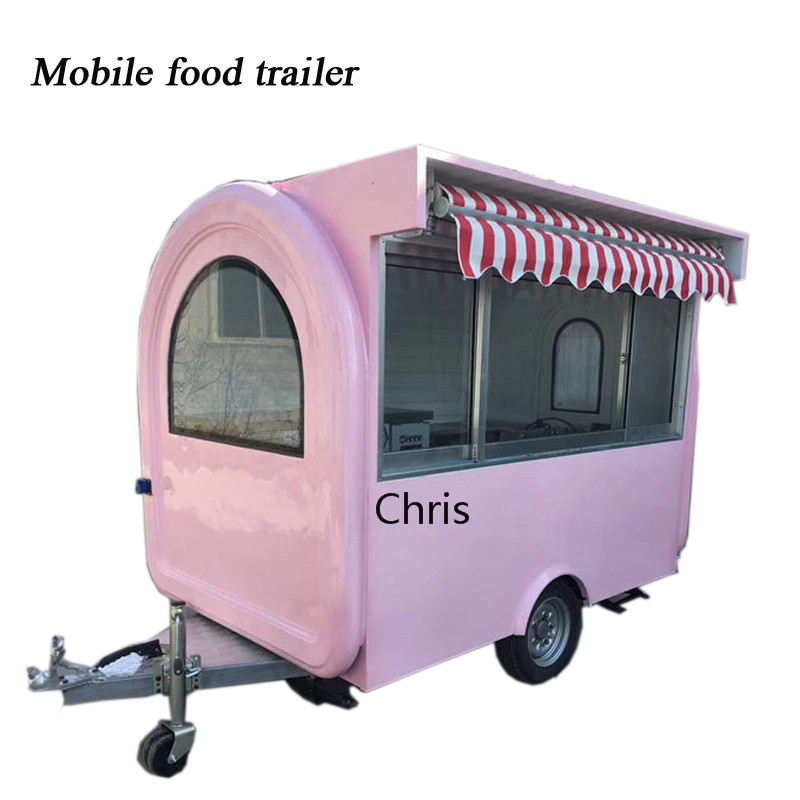 Hot Sale 2019 Street Food Trailer Mobile Cart Food Truck Ice Cream Vending Trucks For Sale