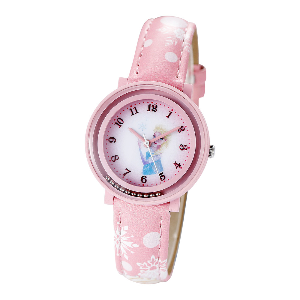 Watches Disney Brand Wristwatches Frozen Sofia Fashion Children Girls Watches Leather Quartz Child Girl Students Cotton Waterproof