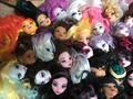 20 Pcs/lot Free Shipping Original Heads For Monster Doll Demon Head 1/6 Dolls DIY Head Girl Christmas Gift Toys High Recommended