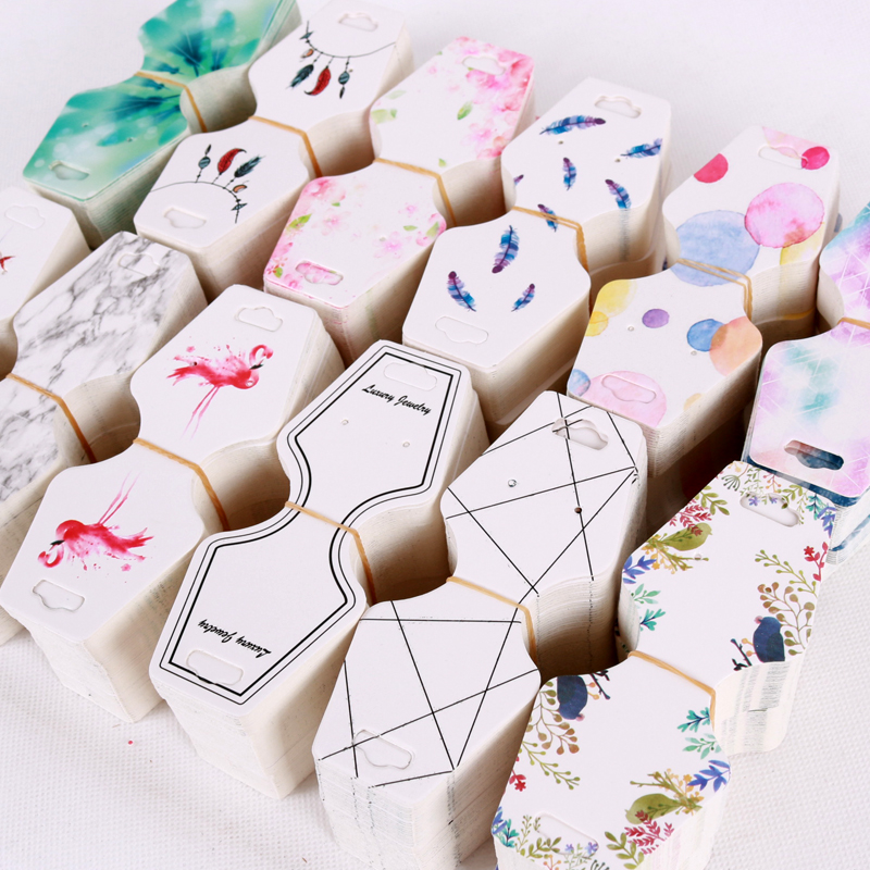 500pcs/lot Jewelry Necklace Cards 4.5x10.8cm Paper Earrings Necklaces Packaging Display Card Nice Jewelry Card Tags
