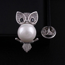 CINDY XIANG Cute Zircon Owl Collar Brooches Unisex Luxury Animal Style Pins & Fashion Copper Jewelry Wedding Accessory