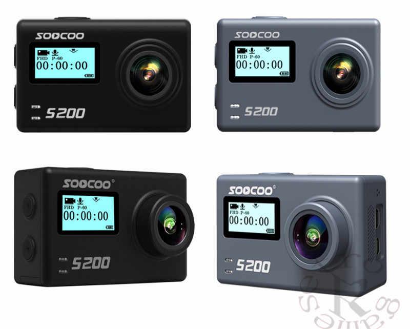 SOOCOO S200 голос Управление Wi-Fi 4 K экшн Камера 2,45 Сенсорный экран с Gyro пульт дистанционного управления, gps расширение включают в себя gps MIC