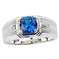 Classic Real 925 Silver Ring Men Sterling 7.0mm Round Cubic Zirconia CZ Jewelry Anillo Hombre Size 9 10 11 12 13 R240