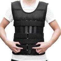 15 кг 20 50 kgLoading взвешенный жилет для тренерское оборудование для бокса Регулируемый упражнения Черная куртка Swat Санда спарринг защиты