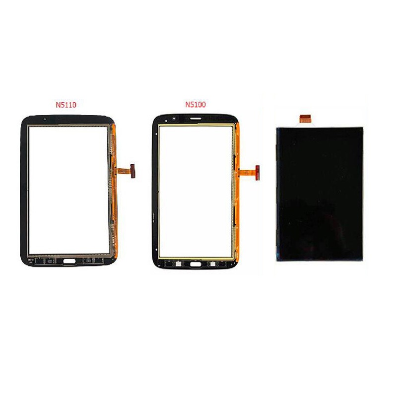 For Samsung Galaxy Note 8 GT- N5100 N5110 Black / White Touch Screen Sensor Digitizer Glass Sensor + LCD Display Screen Panel replacement digitizer touch screen for dual sim samsung galaxy gt i9082 white