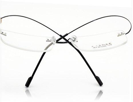 Varejo 9 Cores do vintage Leve Armações de Óculos Sem Aro de Titânio  Memória Óculos Espetáculo Prescrição Armações a820ca17aa