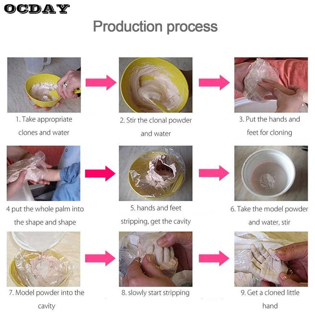 OCDAY-2-PCSlot-3D-Handprints-Footprints-Plaster-Hand-Foot-Shape-Casting-Minikit-Molding-for-Adult-Baby-Clone-Powder-Drop-Ship-3