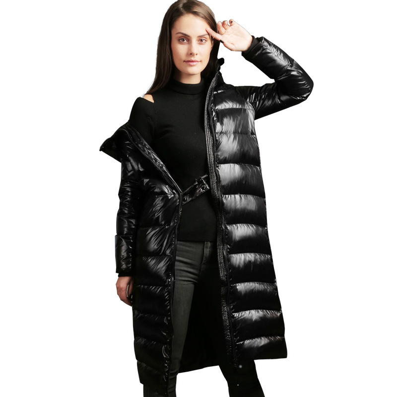 2019 New White duck   down   Jacket Women Winter Parka High quality Hooded Black   Down   jacket Female Thicken warm Long   Down     coat   2891