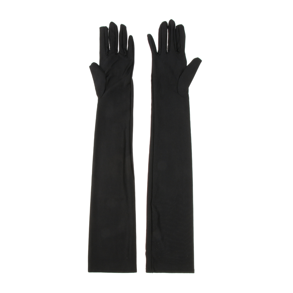 Women's Elegant Evening Finger Gloves Party 1920s Opera Long Gloves Sunscreen Sun Block Gloves For Stage Show Parties