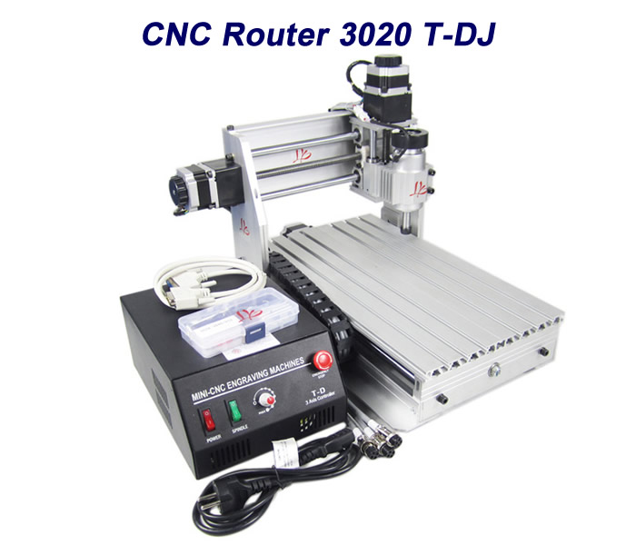 NO tax to EU! 3020T-DJ Mini milling machine CNC router cnc lathe with black control box for wood pcb plastic working eur free tax cnc 6040z frame of engraving and milling machine for diy cnc router