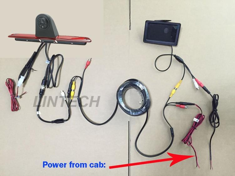 4 3 car monitor brake lights backup Camera system For Mercedes Benz Sprinter sprinter rear camera wire diagram wiring diagram online