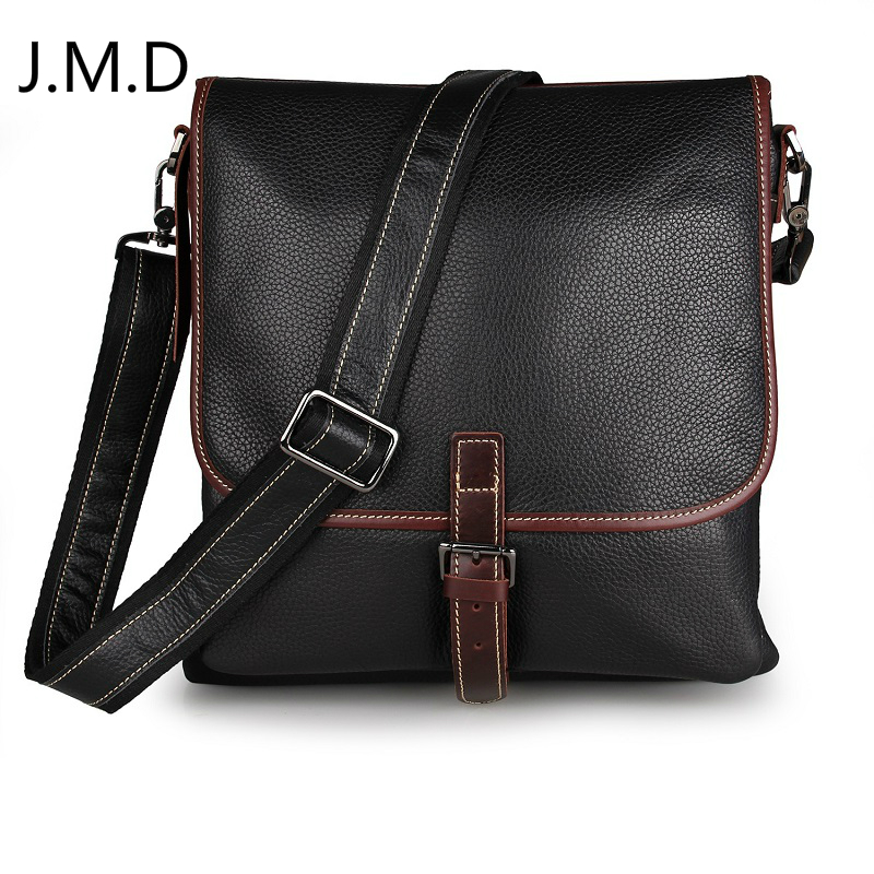 J.M.D Vintage Style Men's Messenger Bag Tanned Leather Sling Bag For Man 7312 Two Color 3d two cats style hoodie for man