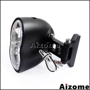 Image 5 - Farol para motocicleta h3 55w, farol personalizado, com lâmpada dupla gêmea, para harley cafe racer