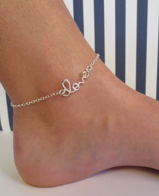 s sterling anklet ankle bracelet foot of chain p anklets leaf charm ball plated silver bead flower picture