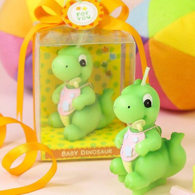 Green Dinosaur Baby Smokeless Candle Happy Birthday Decoration