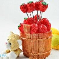 חביות Creative כלי שולחן מזלג פירות תות שדה תות סט סכו