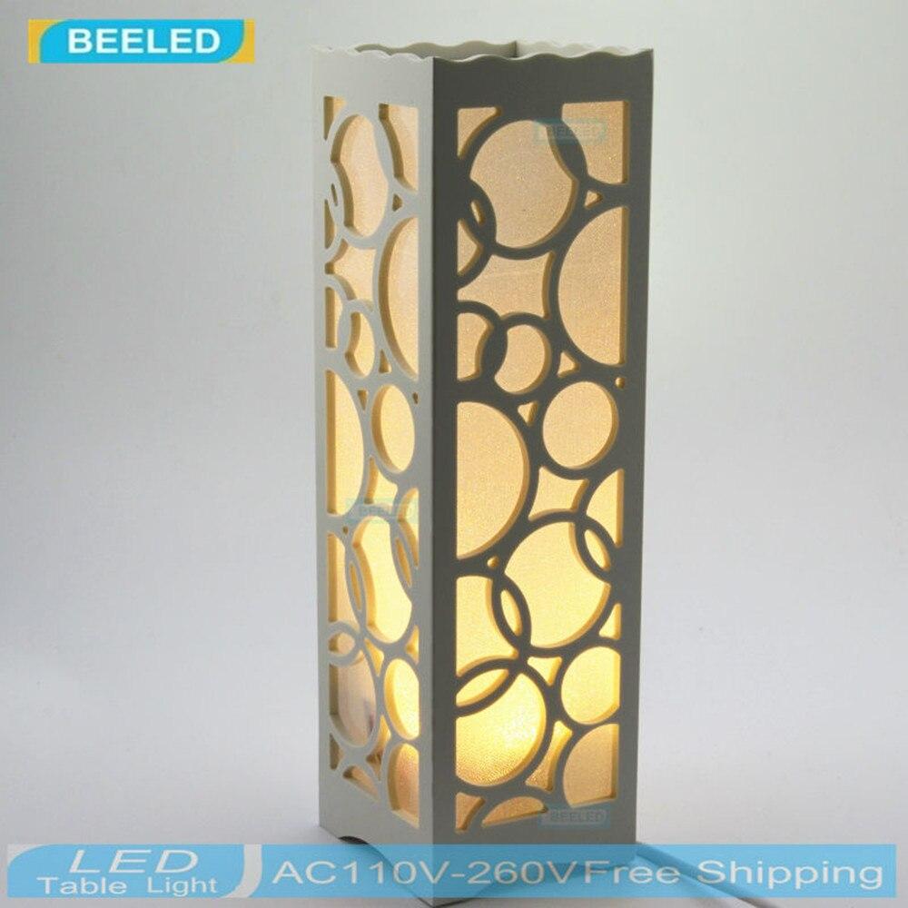 madera de mesa estilo rústico de salón Lámpara de plástico 6v7bfgYy