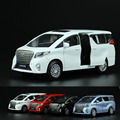 Alta simulación de aleación de coche, escala 1:32 aleación tire hacia atrás coches, metal Toyota alphard, colección de regalos de Alta Calidad, envío gratis