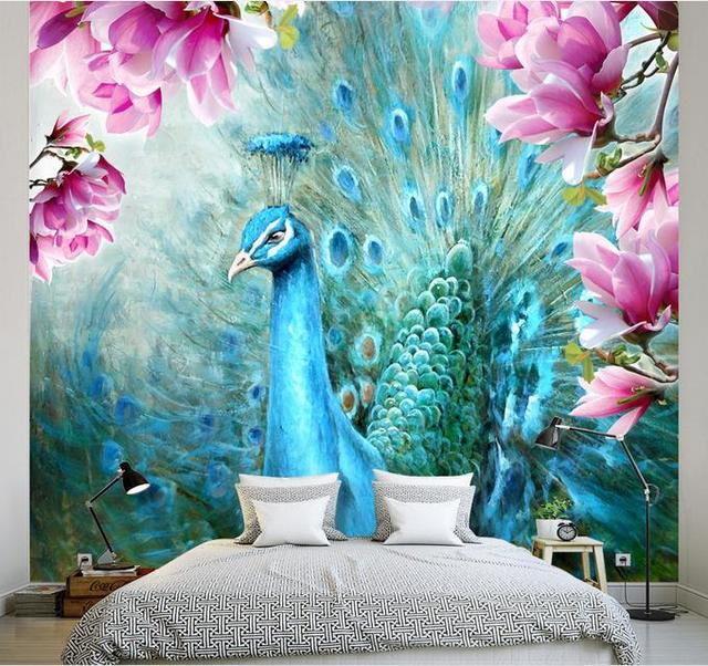 Aliexpress.com : Buy Customize 3d Wallpaper Peacock