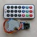 5-wire Stepper Motor + Driver Board + Controle Remoto RC Velocidade ajustável