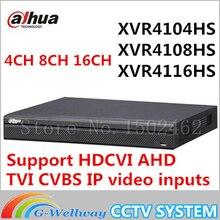 Dahua XVR video recorder XVR4104HS XVR4108HS XVR4116HS 4ch 8ch 16ch 1080P Support HDCVI/ AHD/TVI/CVBS/IP Camera