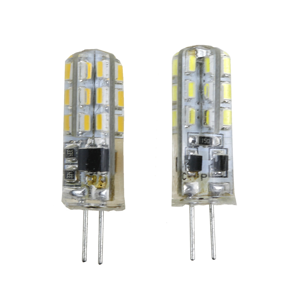 10pcs G4 led Lamp DC12V /AC220V SMD3014 24LED Replace 20W  halogen lamp 360 Beam Angle LED Bulb with soft silicon White/warm 20 pcs g4 led lamp 3w ac dc 12v 3014 5050 smd replace 20w halogen candle light bulb 360 degree chandelier lighting g4 5050 led