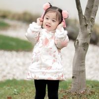 Children's Dress Winter Thickening Tang Suit Chinese Style Cheongsam Cotton Jacket