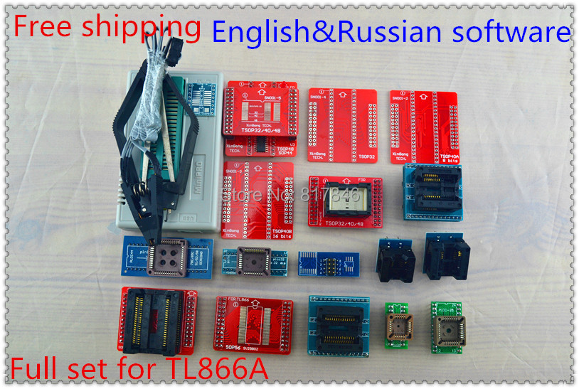 2018 V7.21 TL866II Plus+20items PIC BIOS USB Universal Programmer IC SPI Flash NAND EEPROM MCU AVR better than TL866A/TL866cs usb tl866cs programmer eprom spi flash avr gal pic 9pcs adapters test clip 25 spi flash support in circuit programming adapter