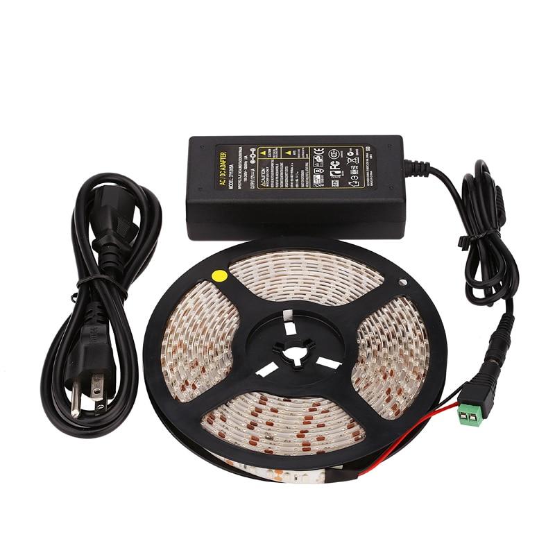 ФОТО Promotion waterproof led strip with driver SMD3528 5M 120leds/m DC12V/4A Flexible saving lighting string ribbon kit